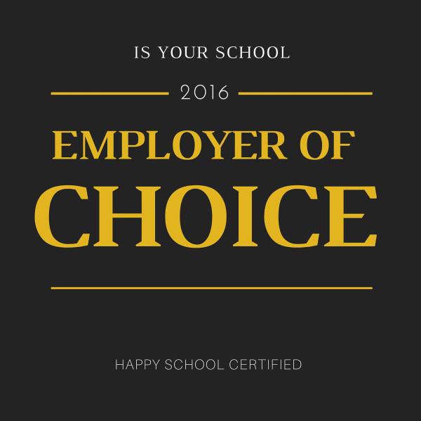 Employer of choice sign