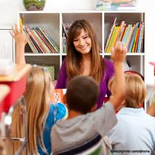 Happy teachers and kids