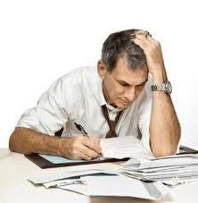 Tired at work or marking tests